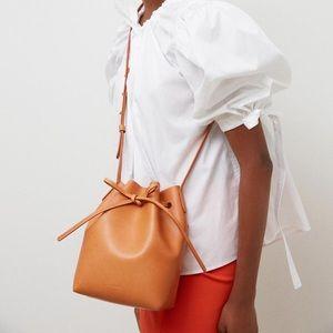 Mansur Gavriel Tan/Magenta Bucket Bag
